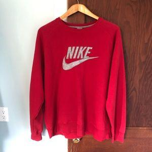 Men's 3XL Red Nike Sportswear Sweatshirt